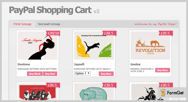 PayPal Shopping Cart Shopping Cart jQuery Plugin