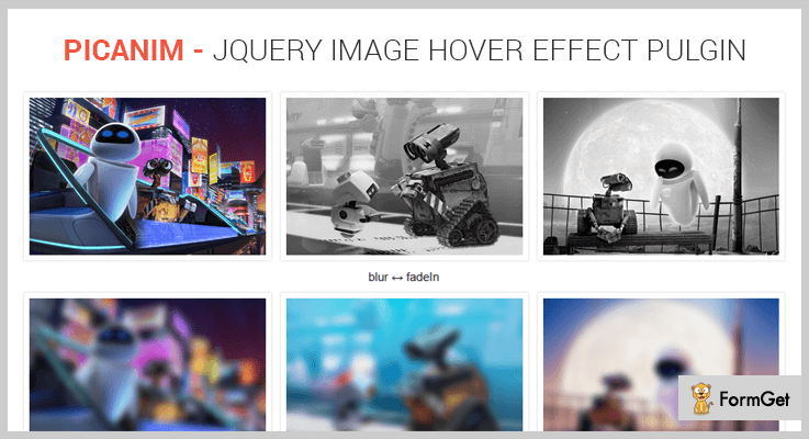 Picanim jQuery Image Hover Effect Plugin