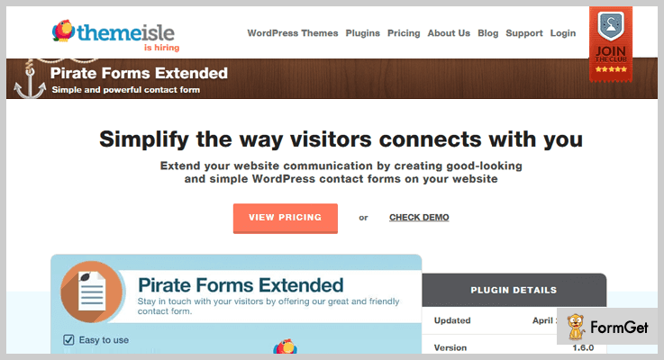 Pirate Forms Extended Contact Form WordPress Plugin