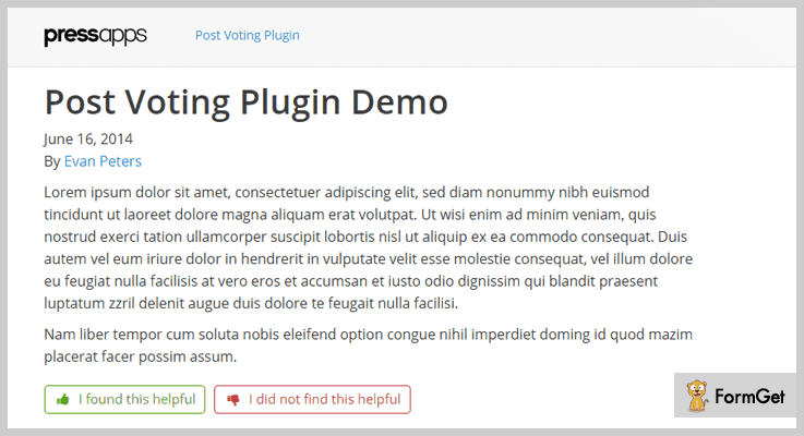 Post Voting WordPress Election Plugin