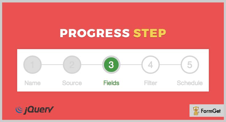 progressStep jQuery Progress Bar Plugins