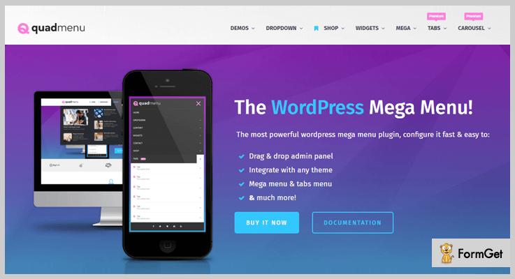 QuadMenu WordPress Drop Down Menu Plugin