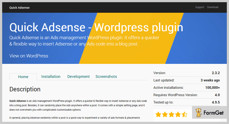 Quick AdSense AdSense WordPress Plugin