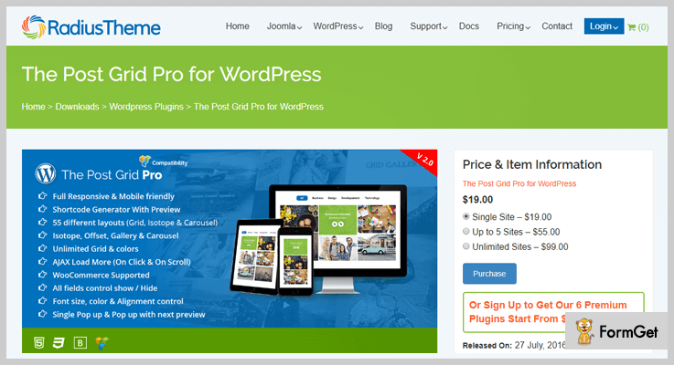Post Grid Pro WordPress Grid Plugin