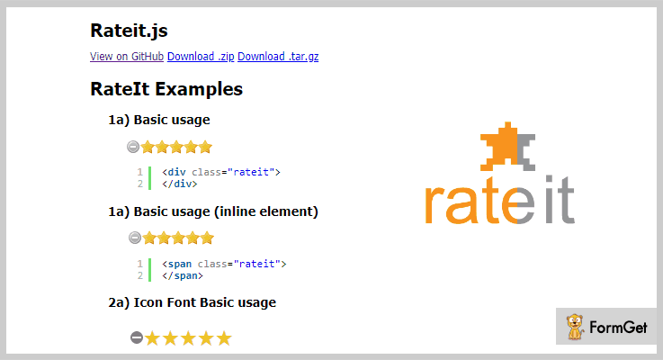 Rateit.js jQuery Rating Plugin