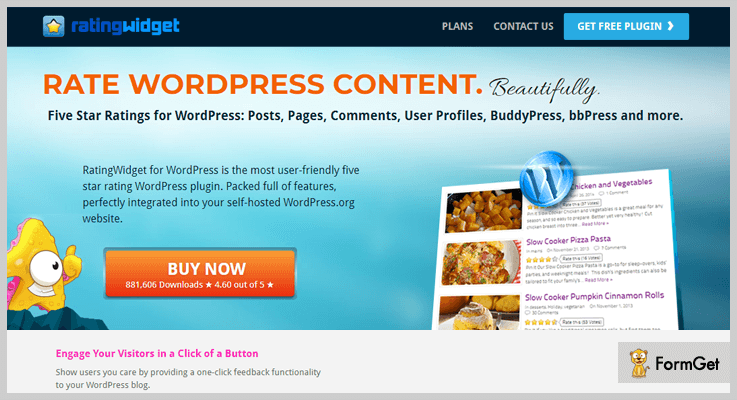 RatingWidget Thumbs Up WordPress Plugins