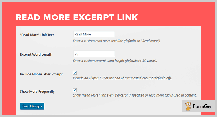 Read More Excerpt Link WordPress Excerpt Plugin