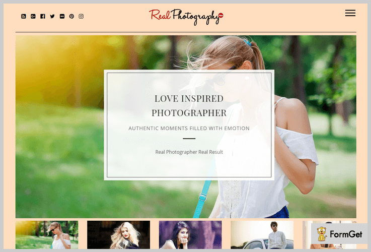 Real Photography Masonry WordPress theme