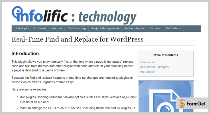 Real Time Find And Replace Search And Replace WordPress Plugin