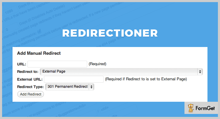 Redirectioner 404 Redirect WordPress Plugin