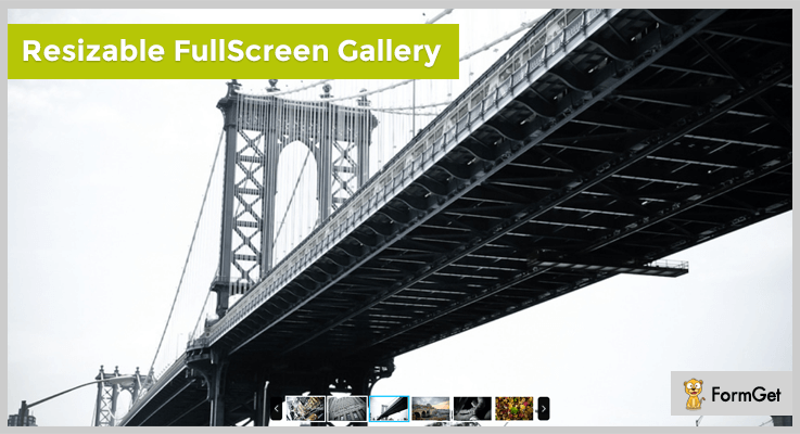 Resizable Fullscreen Slideshow jQuery Plugin