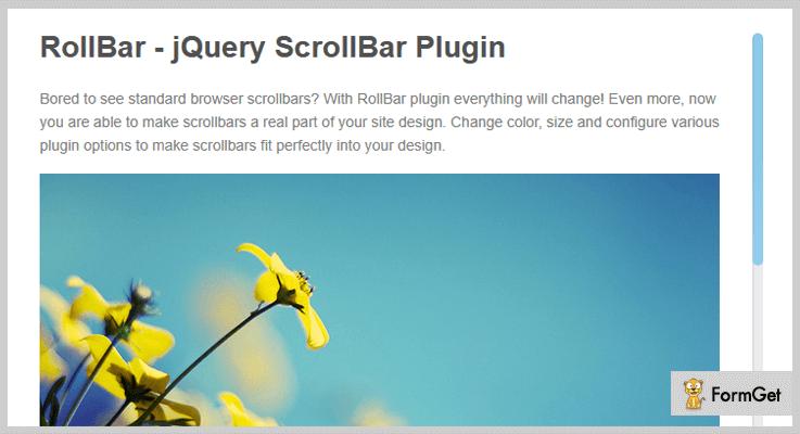 RollBar jQuery ScrollBar Plugin