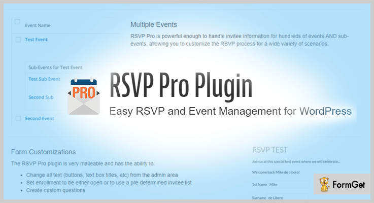 RSVP Pro WordPress Wedding Plugins