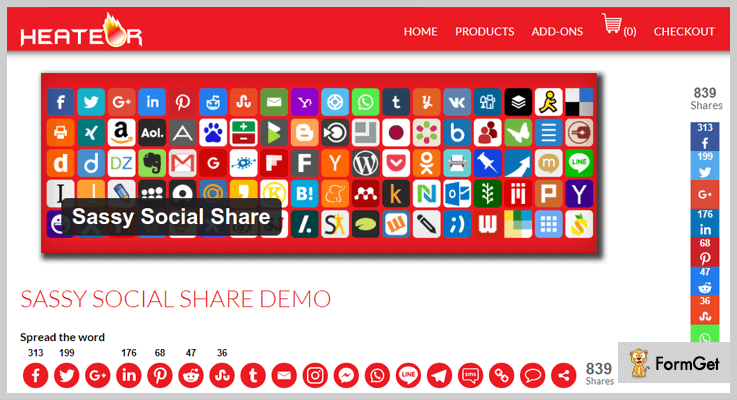 Sassy Social Share WordPress Post Share Plugin