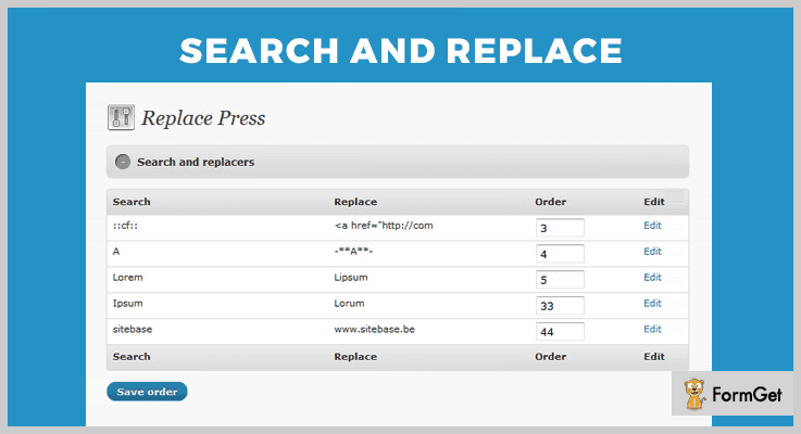 Search And Replace Search And Replace WordPress Plugin