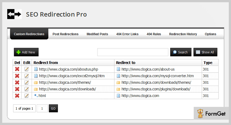 SEO Redirection Pro Redirect WordPress Plugin