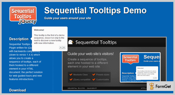 Sequential JQuery Tooltip Plugin