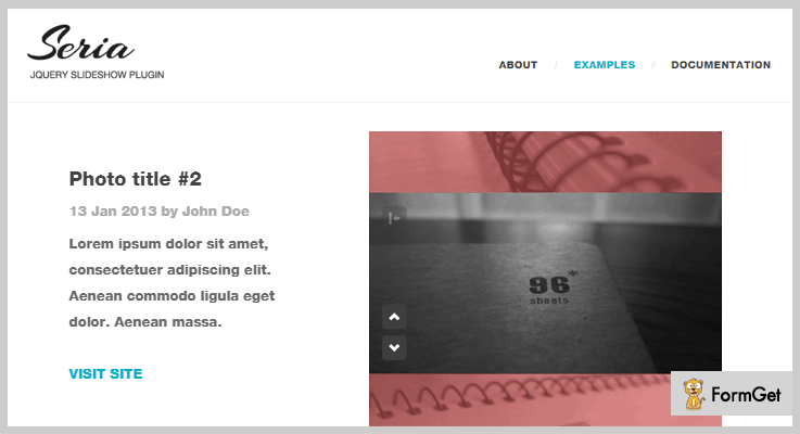 Seria jQuery Slideshow Plugin