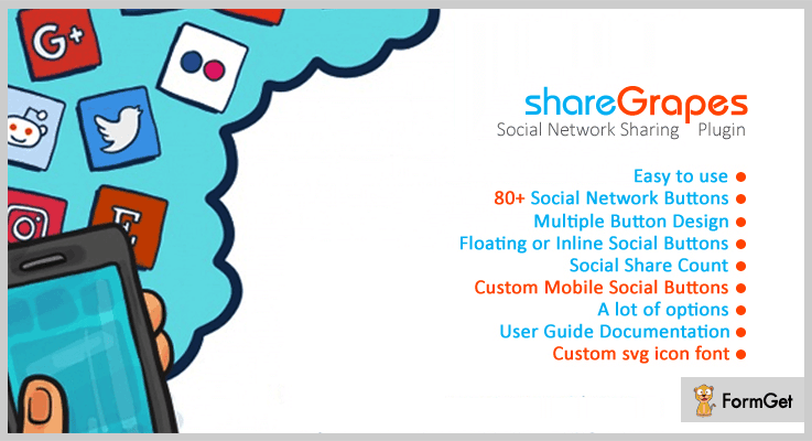 shareGrapes jQuery Social Media Plugins