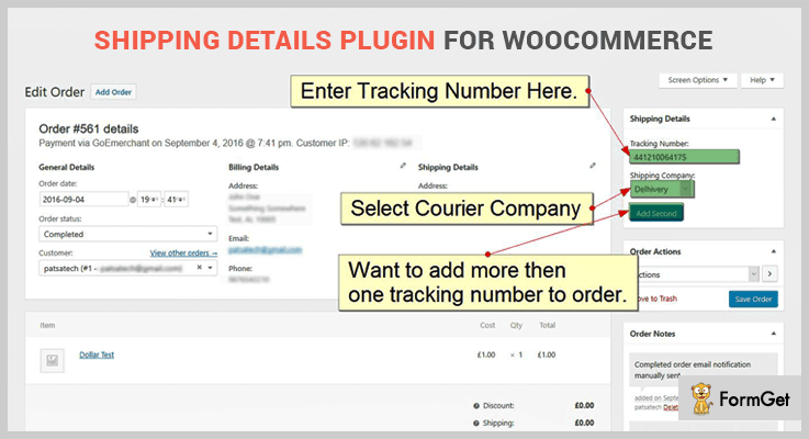 Shipping Details Plugin For WooCommerce Order Tracking WordPress Plugin