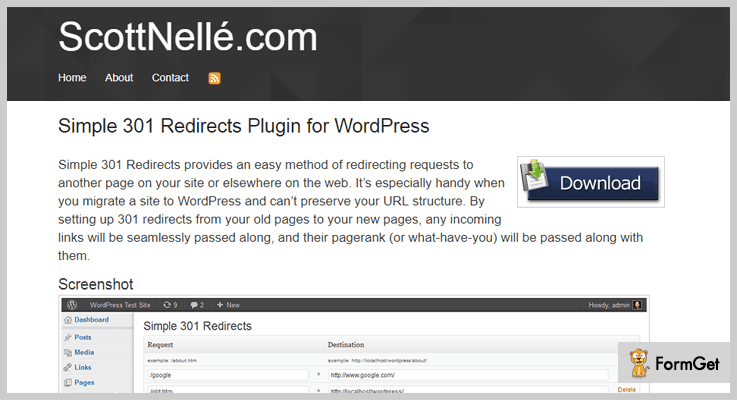Simple 301 Redirects Redirect WordPress Plugin