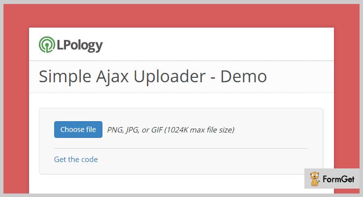 Simple AJAX Uploader jQuery File Upload Plugin