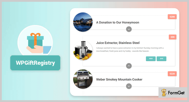 Simple Wishlist's WordPress Wedding Plugins