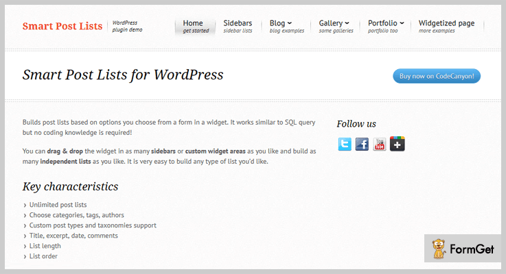 Smart Post List WordPress Excerpt Plugin
