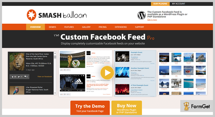 Facebook pro WordPress Plugin