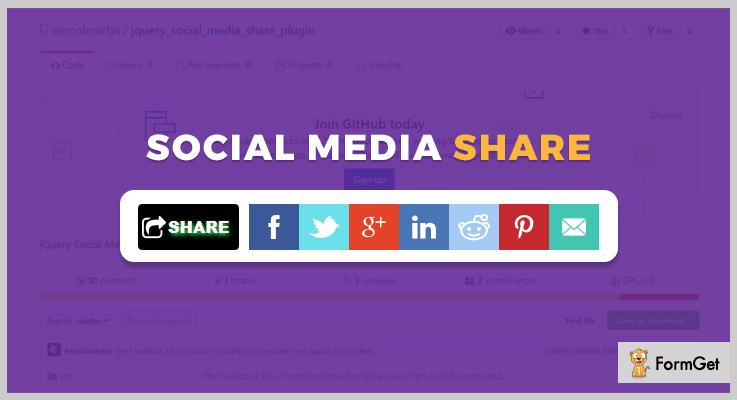 Social Media Sharing jQuery Social Media Plugins