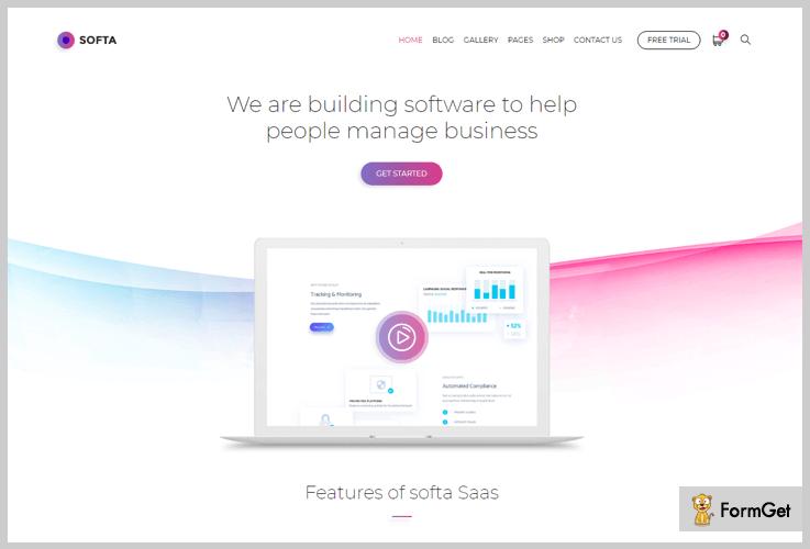 Softa SaaS WordPress Theme