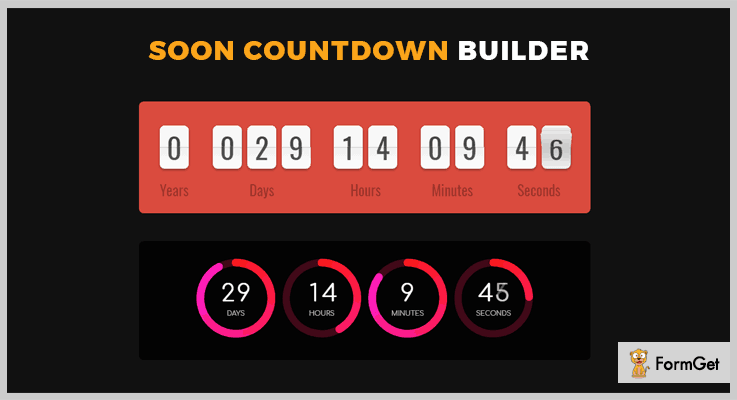 Soon Countdown Builder jQuery Countdown Plugin