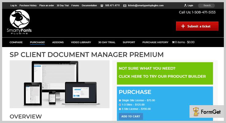 SP Client Document Manager Premium Document Management WordPress Plugin