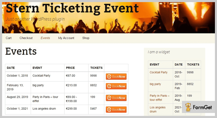 Stern Ticketing Event WordPress e-ticket Plugin