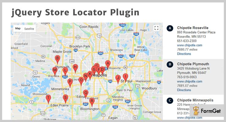 jQuery Store Locator jQuery Store Locator Plugins
