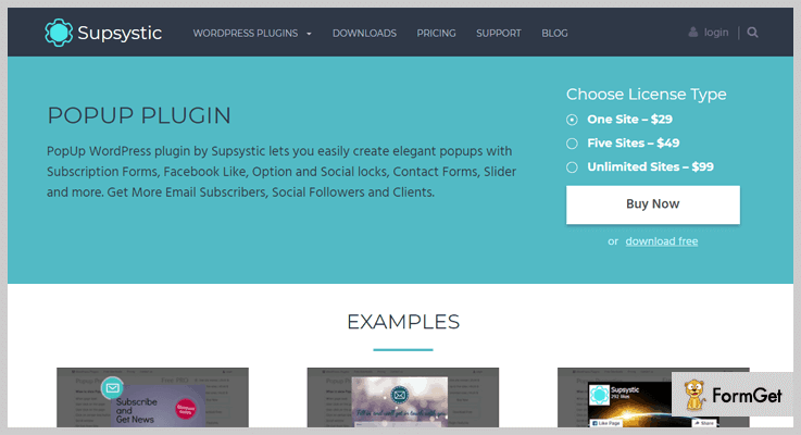 PopUp WordPress plugin by Supsystic
