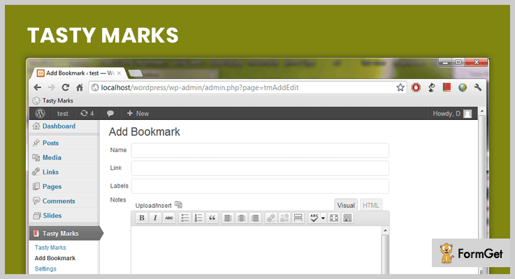 Tasty Marks WordPress Bookmark Plugin