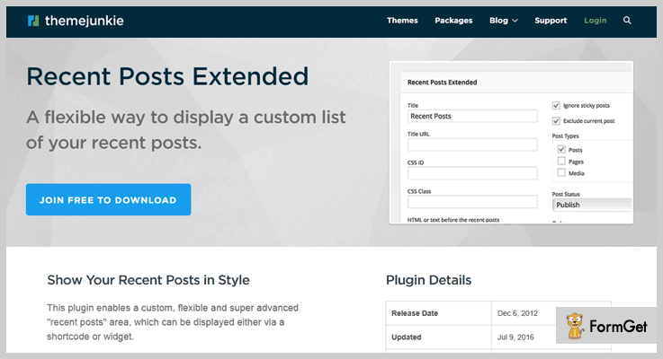 Theme Junkie WordPress Excerpt Plugin