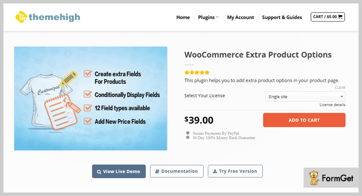 WooCommerce Extra Product Options WordPress Options Plugin