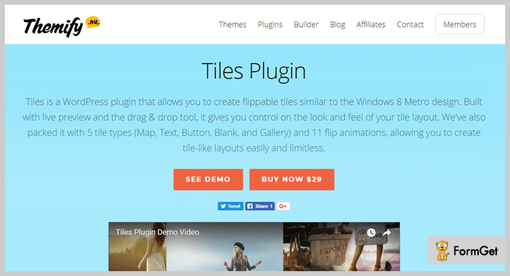 Tiles Plugin Tiles WordPress Plugin