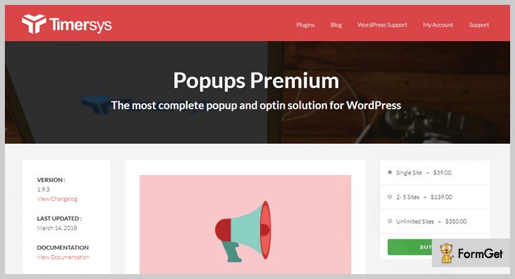 Popups Premium - WordPress Popup Plugins