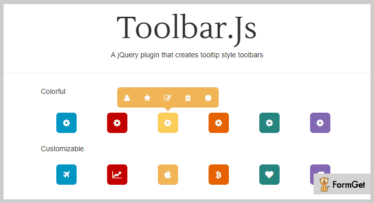Toolbar  jQuery Tooltip Plugin