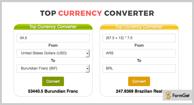 Top Currency Converter jQuery Plugins