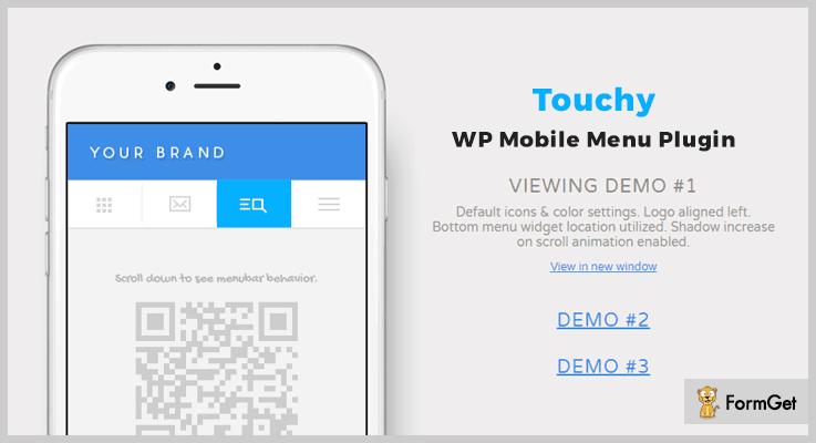 Touchy WordPress Drop Down Menu Plugin