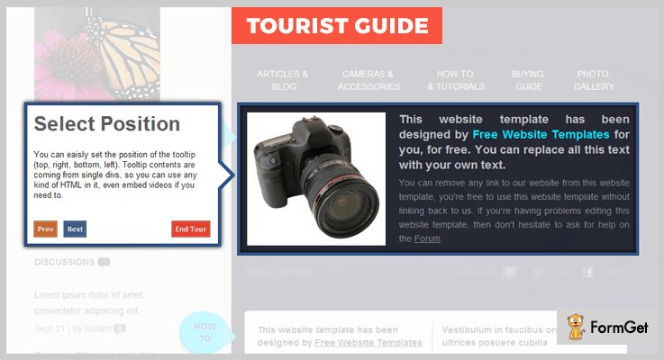 TourisrGuide jQuery Tour Plugin