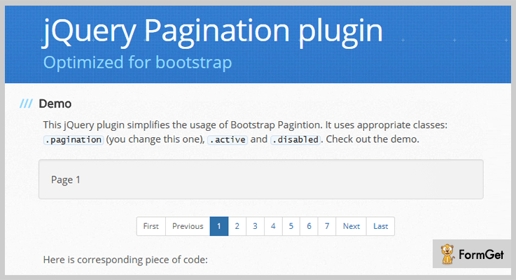TWBS Pagination jQuery Pagination Plugin