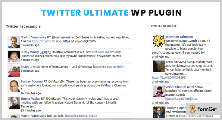Twitter Ultimate WordPress Twitter Feed Plugins