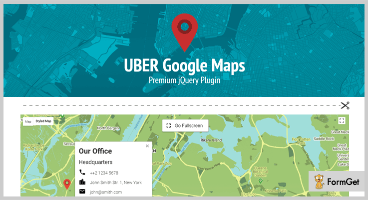 UBER jQuery Google Map Plugin