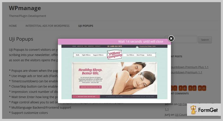 Uji Popup Onclick Popup WordPress Plugin