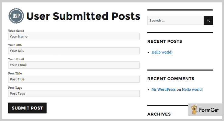 User Submitted Posts Guest Blogger WordPress Plugin